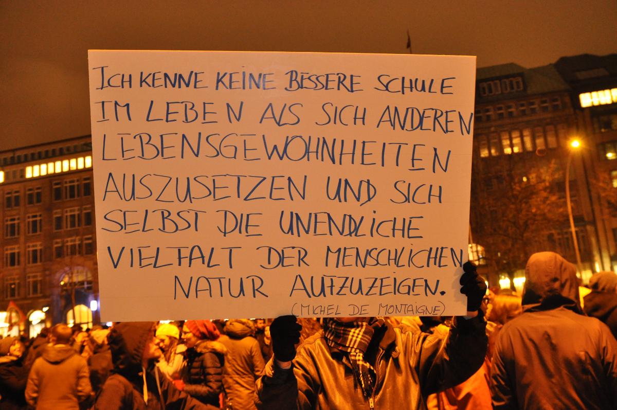Tegida am 05.01.2015 in Hamburg